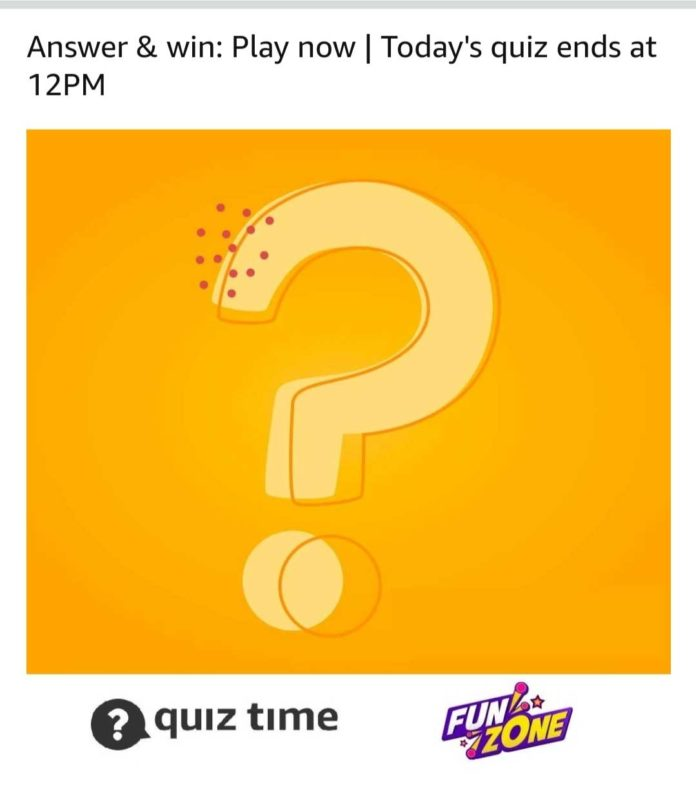 Amazon Quiz Answer Today 19th March
