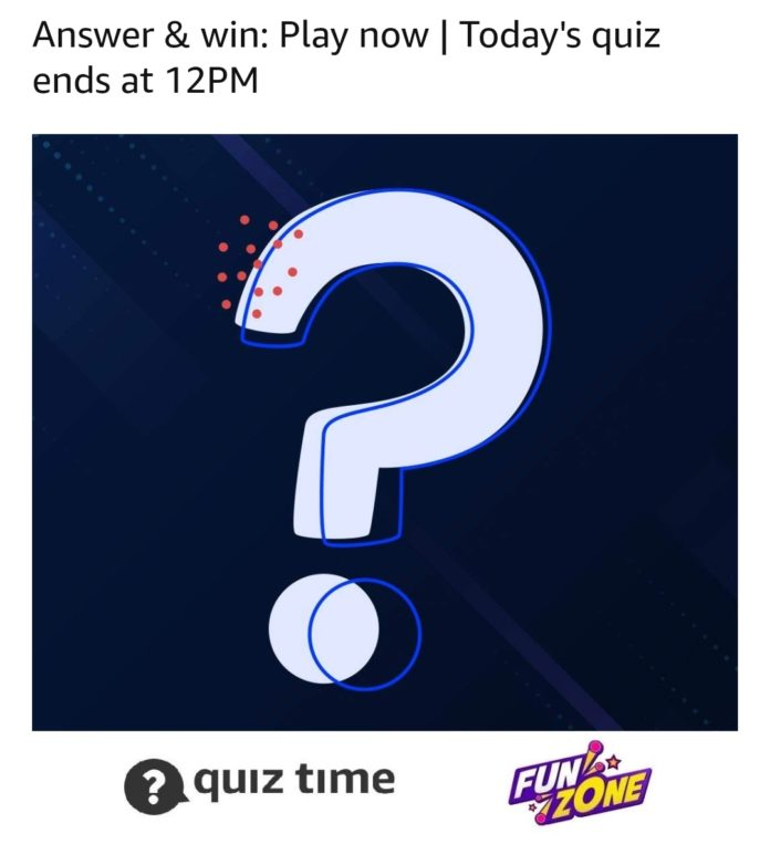 Amazon Quiz Answer Today 8th March 2020