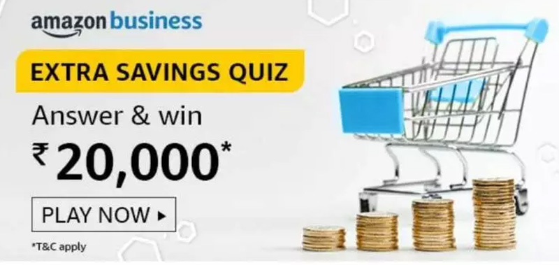 Amazon Extra Savings Quiz