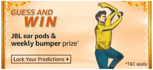 IPL T20 Fever Amazon Guess & Win