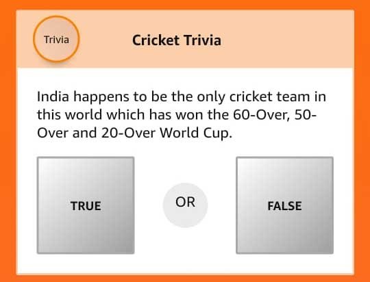 Indian Happens to be the only cricket team in the world which has won the 60-over, 50-over, and 20-over World Cup