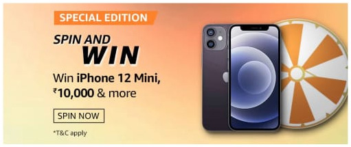 Amazon Special Edition Spin and Win Quiz Answer